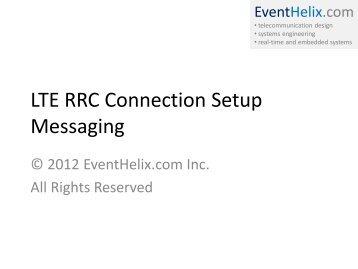 LTE RRC Connection Setup Messaging - EventHelix.com