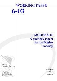 MODTRIM II: A quarterly model for the Belgian economy