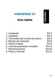 VARISPEED V7 Guía rápida - Carol Automatismos Igualada SA