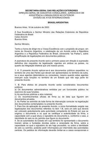 Clique aqui para ver a íntegra do Acordo Brasil-Argentina - Recivil