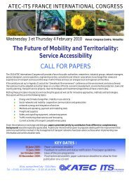 CALL FOR PAPERS - Atec/ITS France