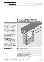Torantrieb DICTAMAT 6000 - Dictator