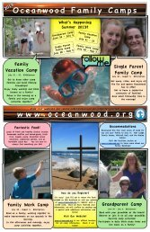 2013 Family Camp Brochure - Oceanwood