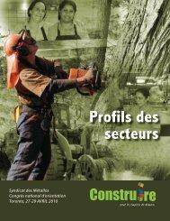 Profils des secteurs