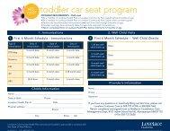 toddler car seat program - Lovelace Health Plan