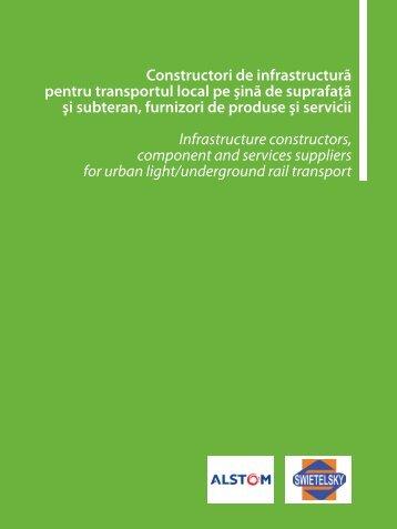Constructori de infrastructură pentru transportul ... - Catalog Feroviar