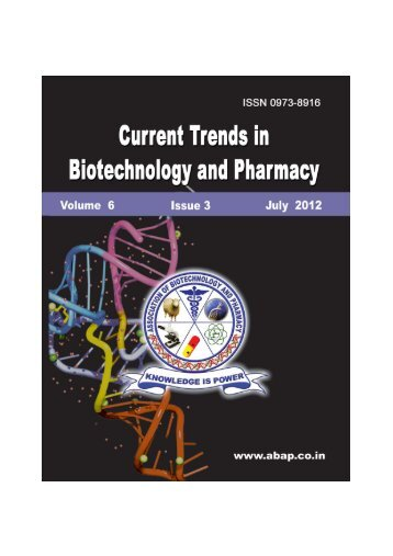 full issue - Association of Biotechnology and Pharmacy