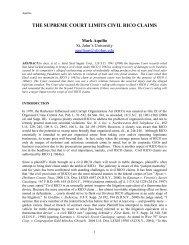 THE SUPREME COURT LIMITS CIVIL RICO CLAIMS - Asbbs.org