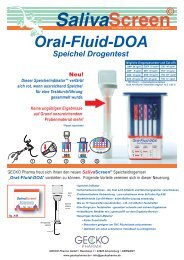 Oral-Fluid-DOA Speichel Drogentest - ulti med Products