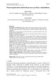 Pomen kognitivnih in afektivnih procesov pri delu z računalnikom