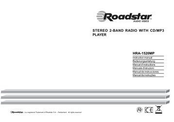 STEREO 2-BAND RADIO WITH CD/MP3 PLAYER HRA-1520MP