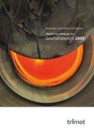 Geschäftsbericht 2009 - Trimet Aluminium AG