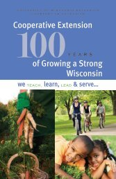 of Growing a Strong Wisconsin Cooperative Extension - University of ...