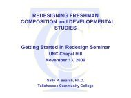 Case Study: Tallahassee Community College - National Center for ...