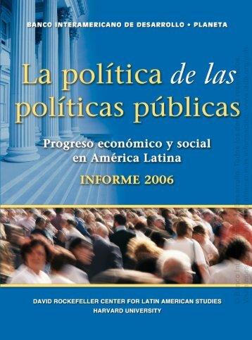 La política de las políticas públicas - Centro de Estudio Sobre ...