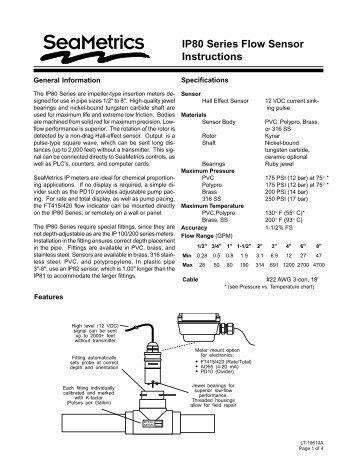 IP81/82 Paddlewheel insertion flow meter for 1/2″ to 8