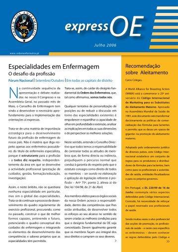 ExpressOE_Jul_2006 - Ordem dos Enfermeiros