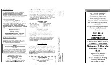 Borchardt Conf. Brochure - University of Michigan