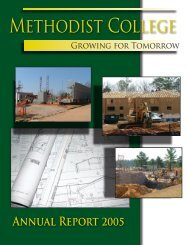Methodist College AnnuAl RepoRt 2005 - Methodist University