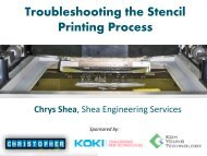 Troubleshooting the Stencil Printing Process - SMTA