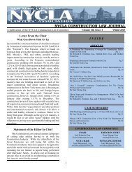 Construction Law Journal Winter 2013 - New York County Lawyers ...