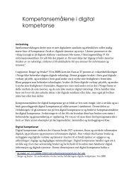 Kompetansemålene i digital kompetanse - Aust-Agder fylkeskommune