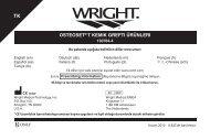 osteoset® t kemık greftı ürünlerı - Wright Medical Technology, Inc.