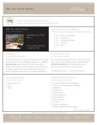 Discover the Preferred Family amenities for OH! All-Suite Hotel