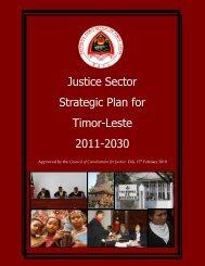 Justice Sector Strategic Plan - UNDP Timor-Leste - United Nations ...