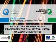 Jaroslava Nenadal, EFQM Excellence Model as a Framework ... - EOQ