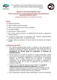 Piano di azione per la promozione del sistema agroalimentare ...