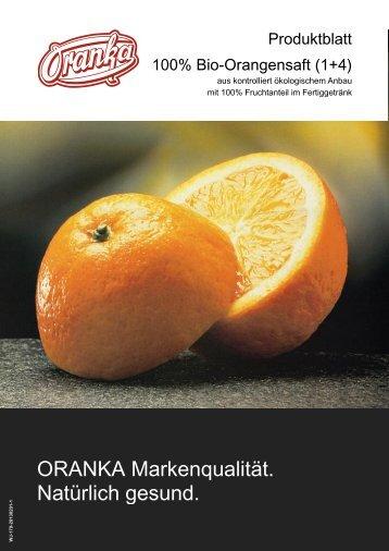 100% Bio-Orangensaft (1+4)