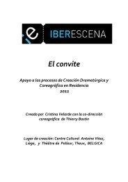 El Convite guion - Iberescena