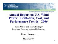 Annual Report on US Wind Power Installation, Cost - Electricity ...