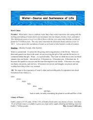 Prayer Ritual: World Water Day - Holy Cross International Justice ...