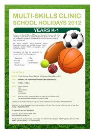 multi-skills clinic school holidays 2012 years k-1 - Trinity Grammar ...