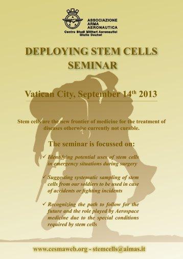 DEPLOYING STEM CELLS SEMINAR