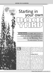 Starting in your own back yard - Getting Practical