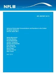 (phase 3) - Annual Report - 2011 - UK-Air - Defra