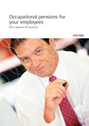 Occupational pensions for your employees - SPP