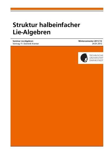 Struktur halbeinfacher Lie-Algebren
