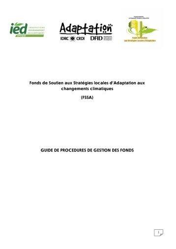 Fonds de Soutien aux Stratégies locales d'Adaptation ... - IED afrique