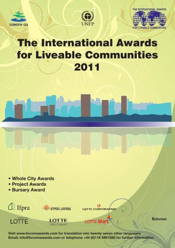 The International Awards for Liveable Communities ... - Livcom Awards