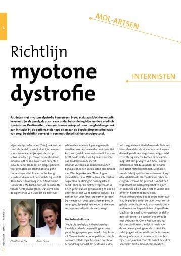 Download het artikel over de Richtlijn myotone ... - Kwaliteitskoepel
