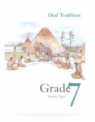 Grade 7 Part 4 Oral Tradition.pdf - Education, Culture and Employment