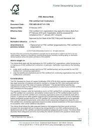 Download the FSC advice note - NEPCon