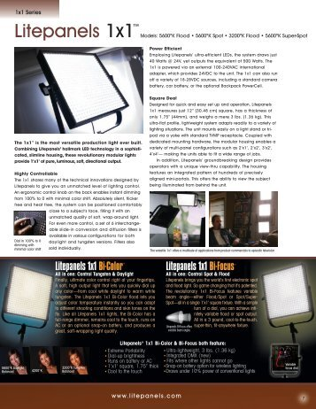 Litepanels 1x1 Brochure