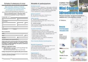 Mini Centrali Idroelettriche - Corrente