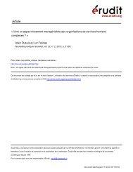 Vers un appauvrissement managérialiste des organisations de ...