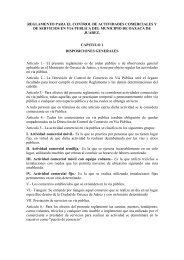 Reglamento para el Control de Actividades Comerciales y de ...